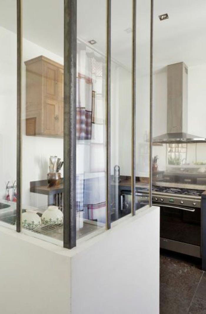 La verri re d int rieur une vraie tendance en 40 images for Cuisine moderne loft