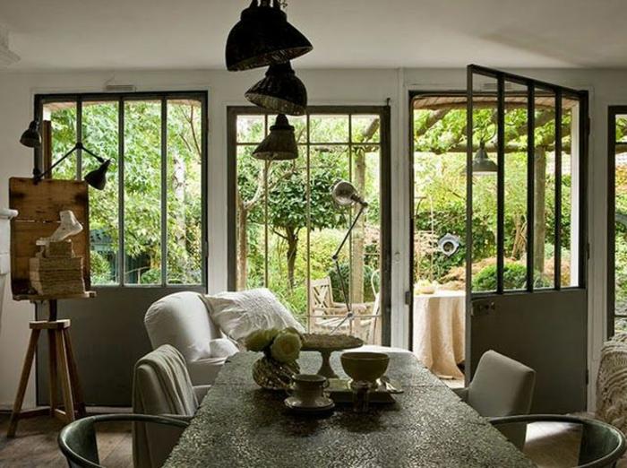 La verri re d int rieur une vraie tendance en 40 images for Fenetre style loft