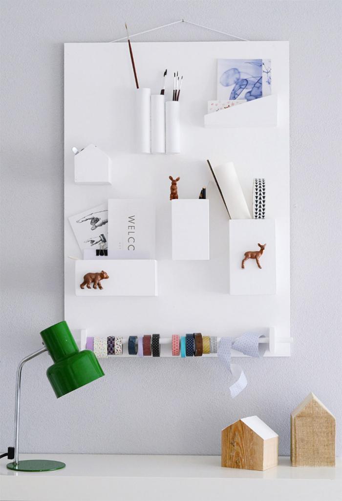 vide-poche-mural-plusieurs-niches-tableau-blanc