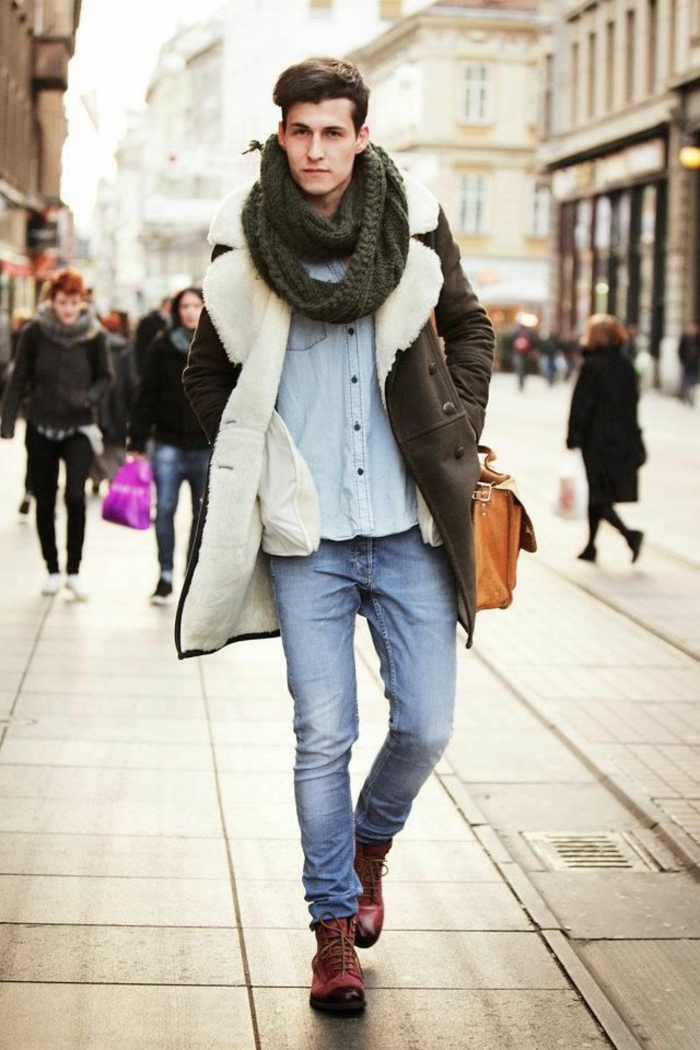 écharpe-tube-idée-en-tendance-hiver-2015-homme-idée-tenue