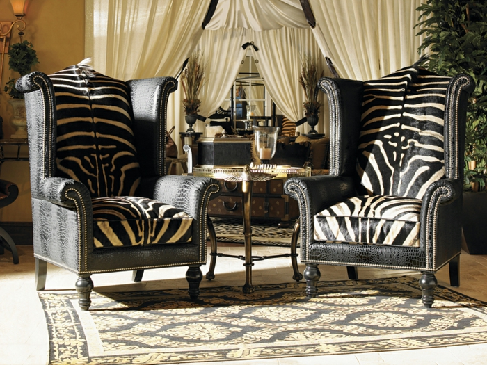 le fauteuil z bre dans 40 photos inspirantes. Black Bedroom Furniture Sets. Home Design Ideas