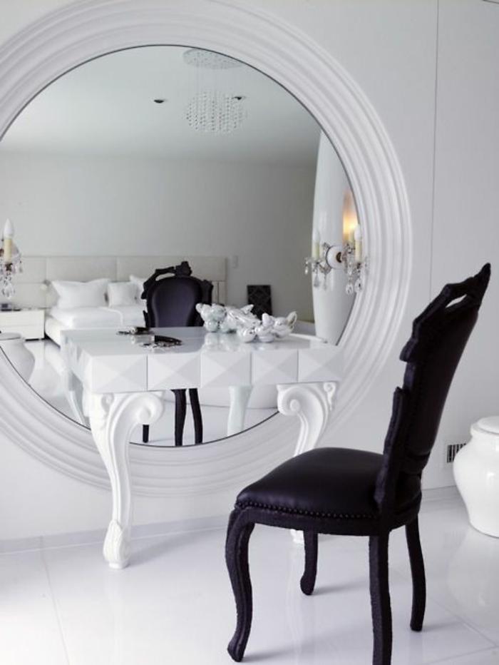 Jolie coiffeuse avec miroir 40 id es pour choisir la for Coiffeuse salle de bain