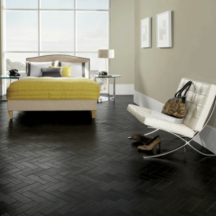 Le parquet noir en 45 super photos for Solde chambre a coucher