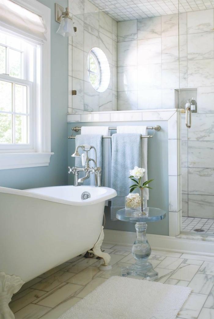 Beaucoup d 39 id es en photos pour la salle de bain en marbre - Salle de bain style retro ...