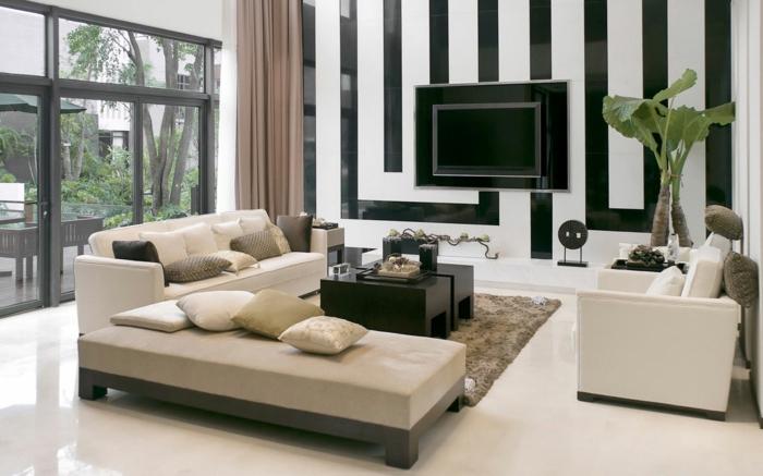 Le papier peint noir et blanc est toujours un singe d - Tapisserie rayee noir et blanc ...