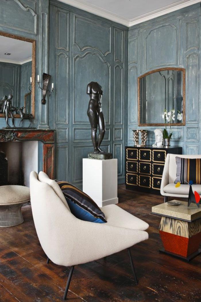 habillage poteau salon superior habiller un mur. Black Bedroom Furniture Sets. Home Design Ideas