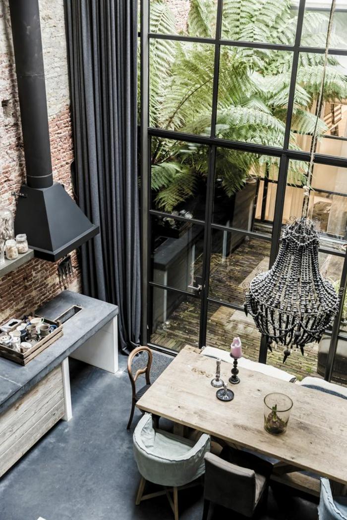 Les derni res tendances pour le meilleur rideau de cuisine for Fenetre style loft