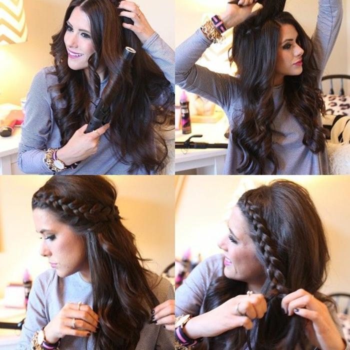 Coiffure de cheveux long facile a faire