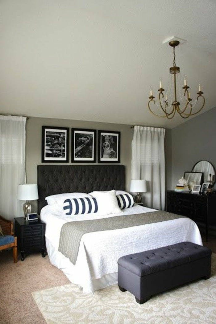 Modele De Chambre A Coucher Romantique : Chambre A Coucher Noir Beige: Modele de chambre a coucher pour adulte …