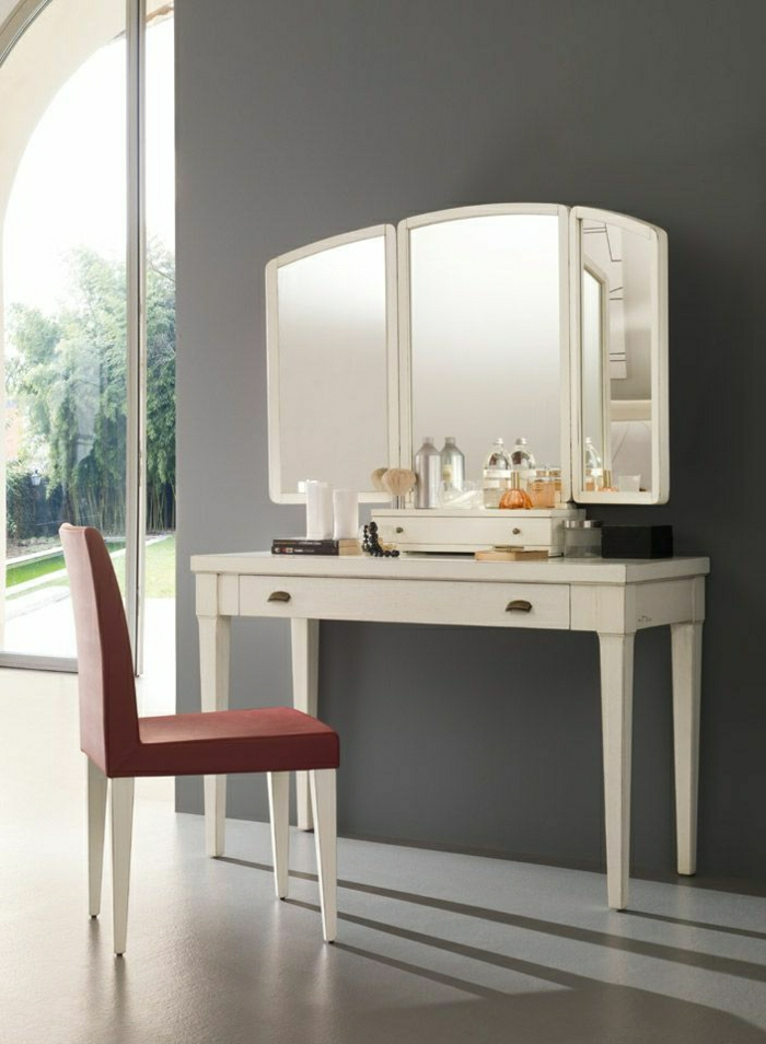 jolie coiffeuse avec miroir 40 id es pour choisir la. Black Bedroom Furniture Sets. Home Design Ideas