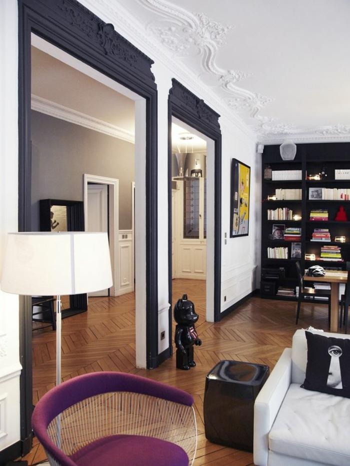 1-commen-decorer-le-plafond-blanc-moulure-décorative-pour-le-plafond-blanc-dans-le-salon-moderne