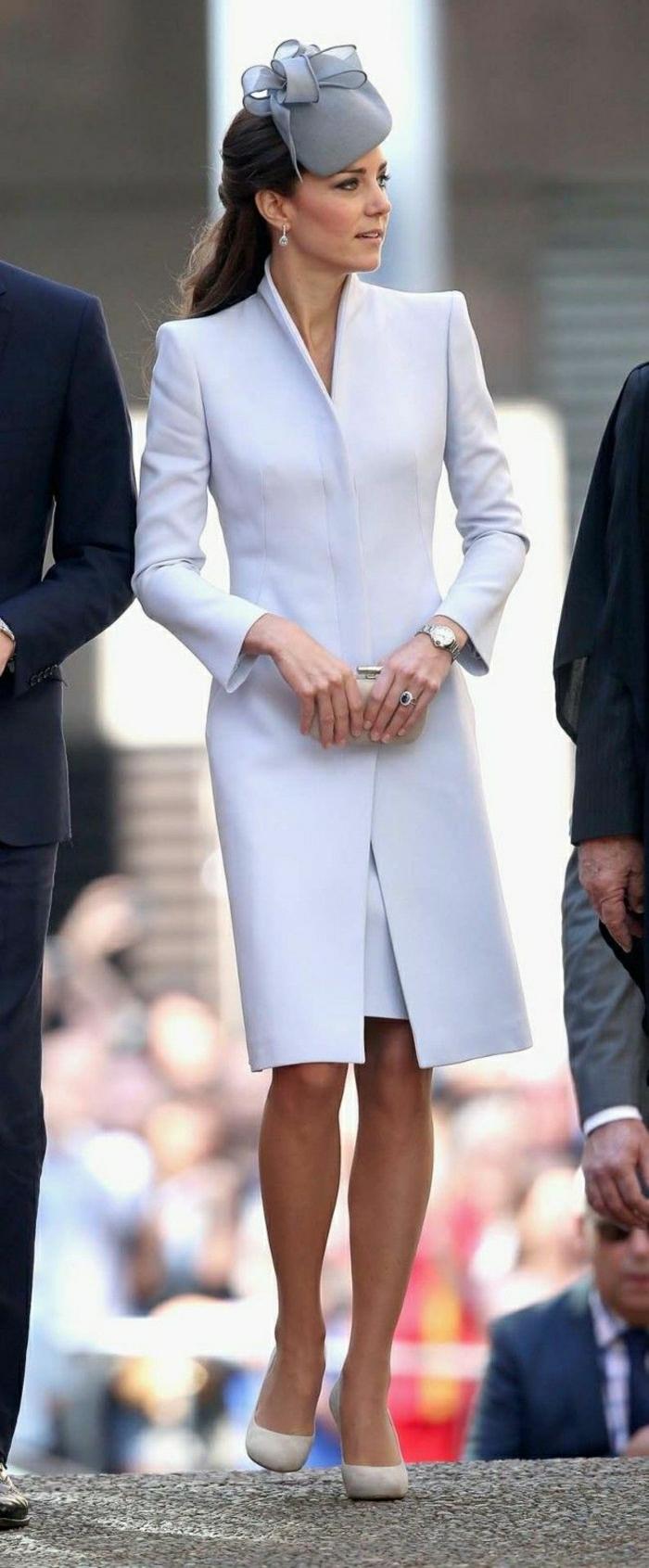 Manteau chic femme blanc