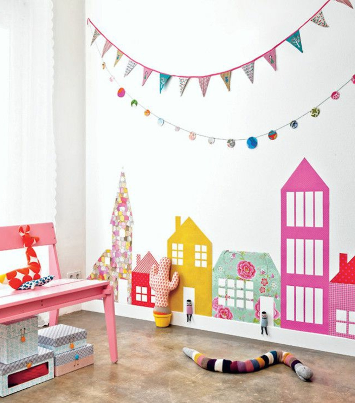 Deco murale chambre enfant maison design for Decoration murale enfant