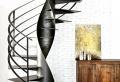 L'escalier tournant dans 40 photos inspirantes, pleines des idées!