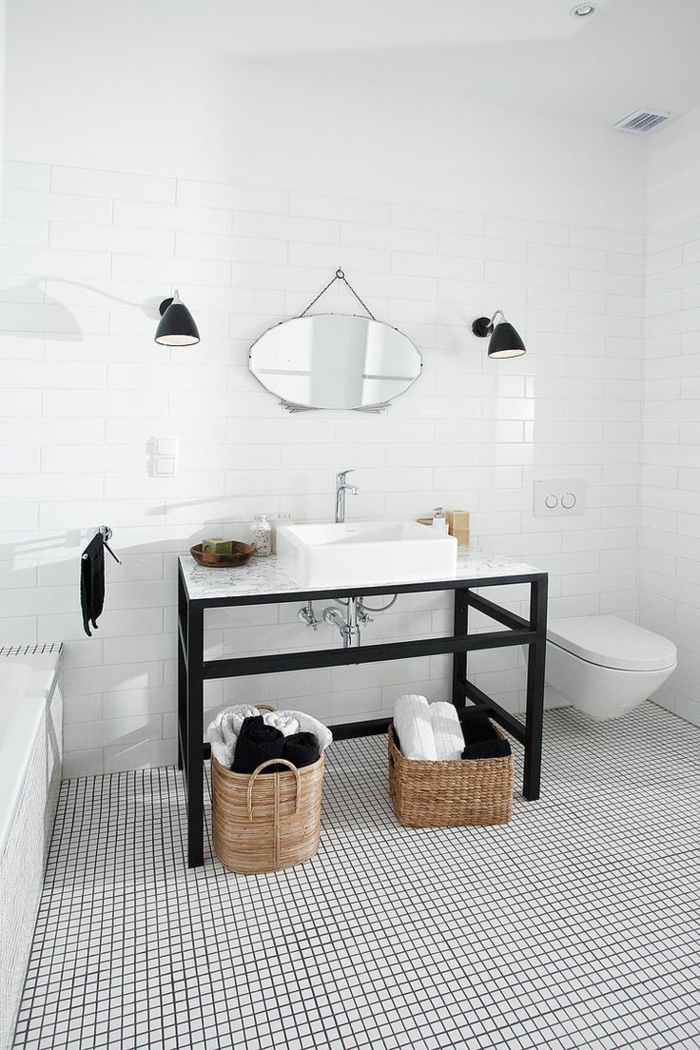 faience salle de bain noir et blanc id es de conception sont int ressants. Black Bedroom Furniture Sets. Home Design Ideas