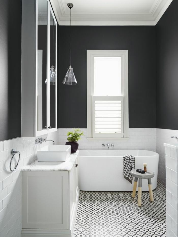 Vous cherchez des id es pour un carrelage noir et blanc - Plan de toilette leroy merlin ...