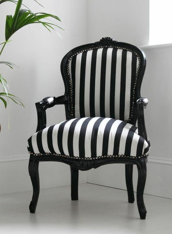 1-fauteuil-zèbre-blanc-et-noir-pour-le-salon-fauteuil-zebre-de-salon-moderne-et-plante-verte-d-interieur