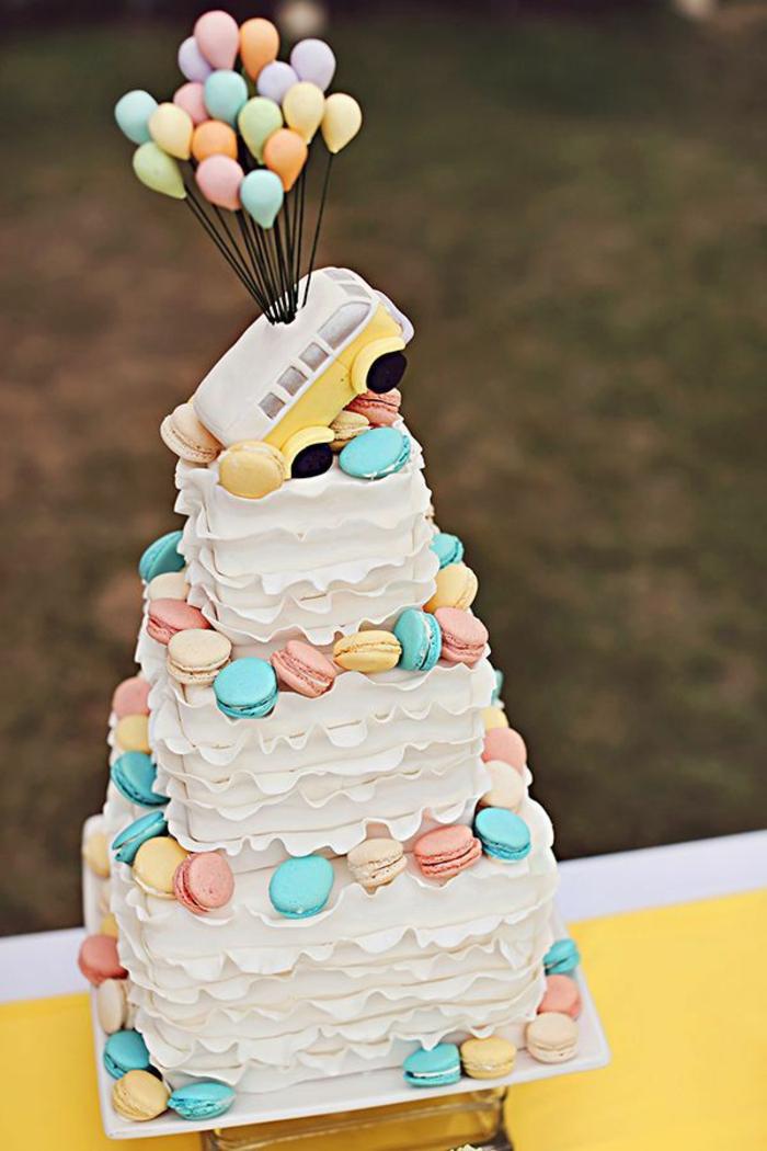 G Ef Bf Bdteau Anniversaire Style Wedding Cake