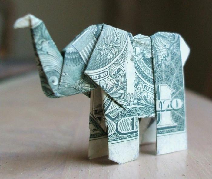 pin origami elephant facile dollar bill on pinterest. Black Bedroom Furniture Sets. Home Design Ideas