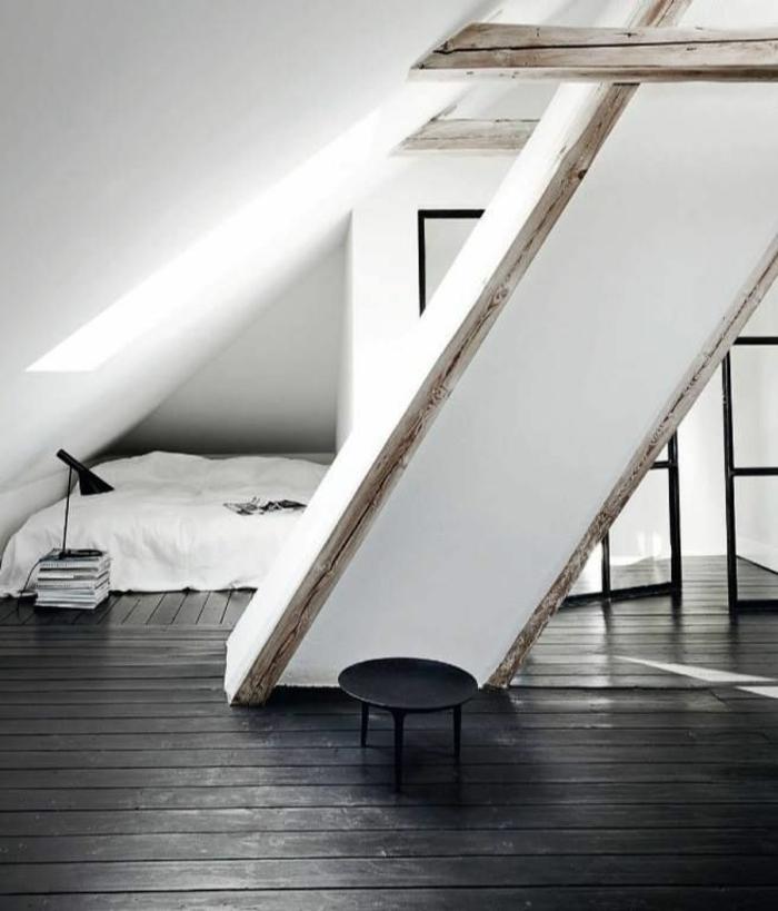 1-jolie-chambre-a-coucher-sous-combles-moderne-amenagement-blanc-noir