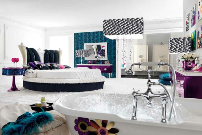 44 super id es pour la chambre de fille ado. Black Bedroom Furniture Sets. Home Design Ideas