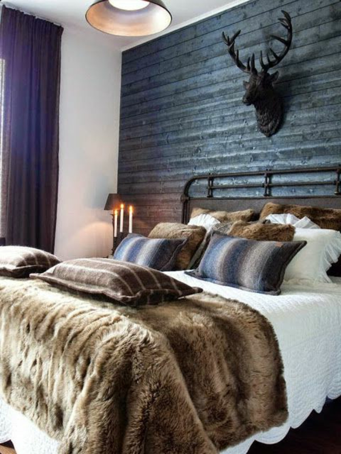 le meilleur plaid en fourrure en 40 photos inspirantes. Black Bedroom Furniture Sets. Home Design Ideas
