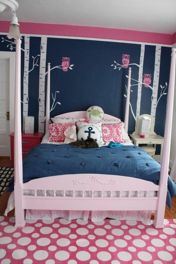 1-jolie-et-originale-chambre-a-coucher-adulte-fille-deco-chambre-ado-fille-murs-dessinés