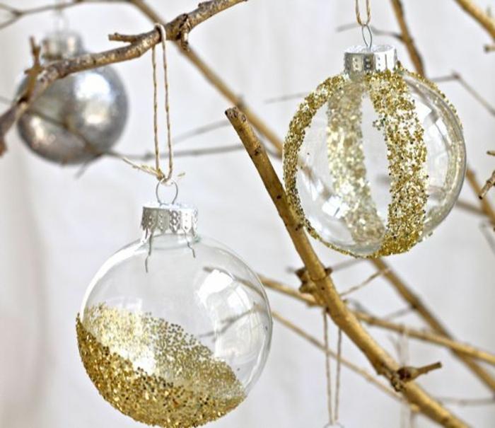 Decoration De Noel Boule Transparente En Verre