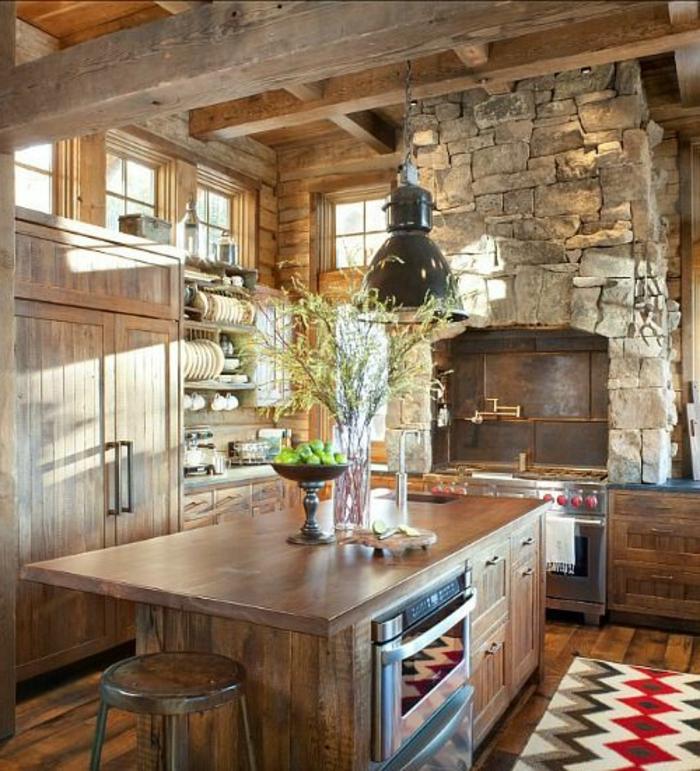 1-jolie-maison-familiale-et-rurale-de-style-rustique-cuisine-avec-meubles-en-bois-massif-foncé