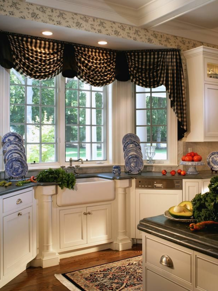 Image Result For Unique Kitchen Curtain Ideas
