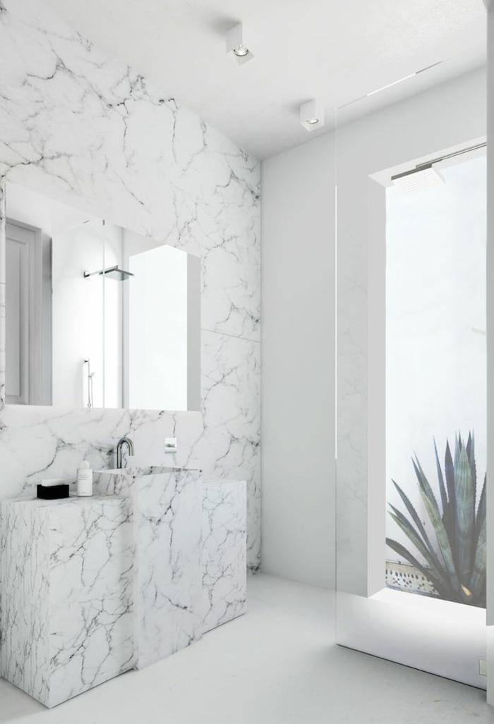beaucoup d 39 id es en photos pour la salle de bain en marbre. Black Bedroom Furniture Sets. Home Design Ideas