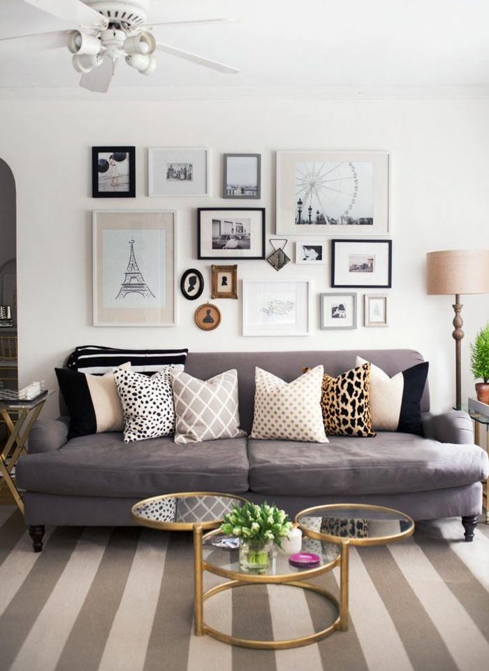 45 id es magnifiques pour l 39 int rieur avec la couleur parme - Idee deco zwart witte salon ...