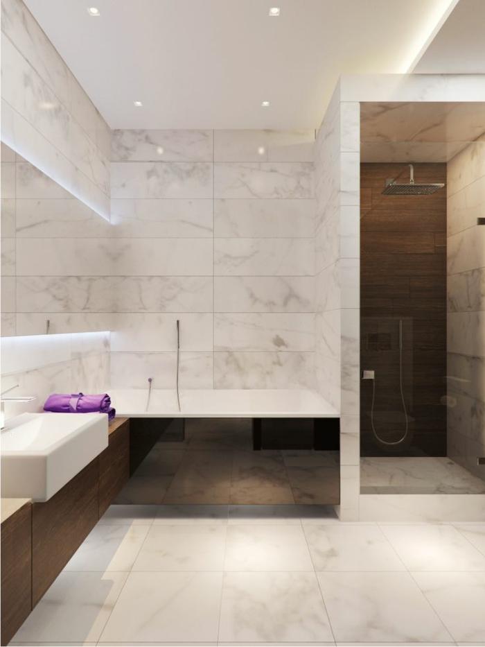 Beaucoup d 39 id es en photos pour la salle de bain en marbre for Couleur salle de bain moderne