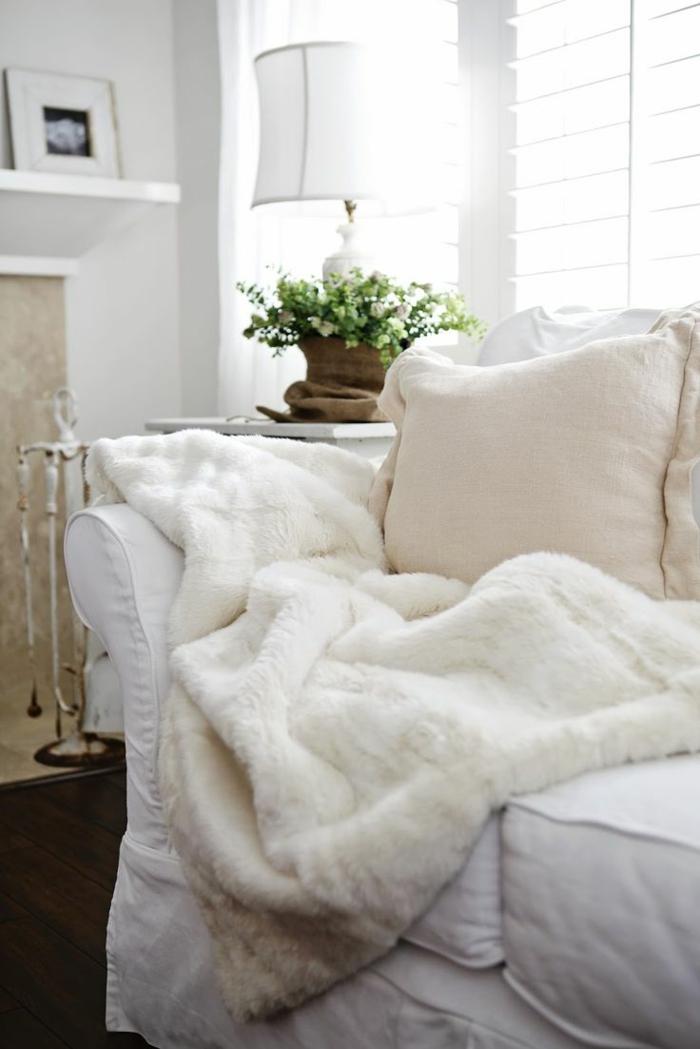1 la plus belle couverture plaid imitation fourrure - Plaid Pour Canape