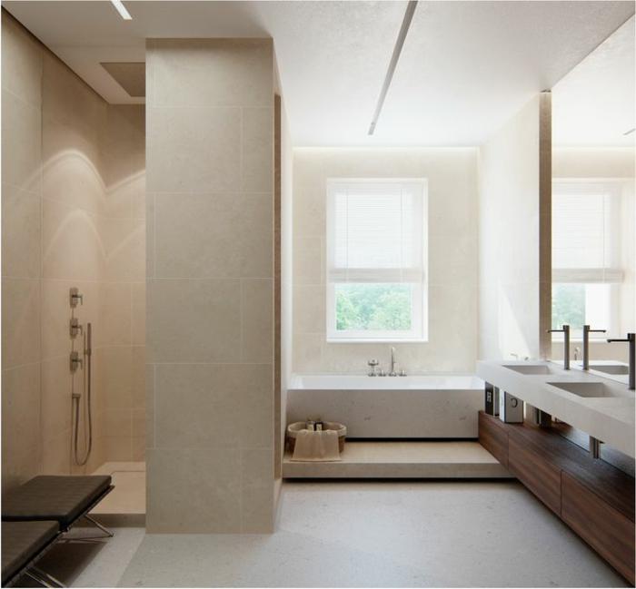 Faience salle de bain beige mural trevise artens en fa - Faience salle de bain beige ...