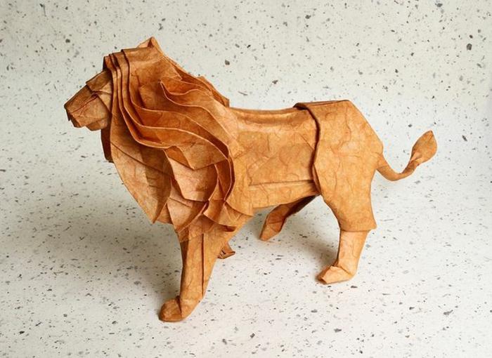 1-les-meilleurs-origami-en-papier-un-joli-lion-en-papier-comment-crer-origami-facile