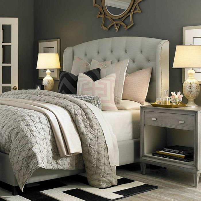 Les meilleures variantes de lit capitonn dans 43 images for Chambre a coucher moderne en fer forge