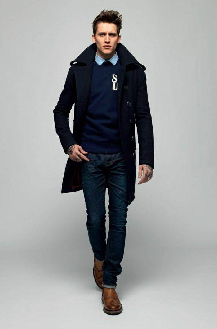 c73a21091977 Les tendances chez le manteau long homme en 48 photos!