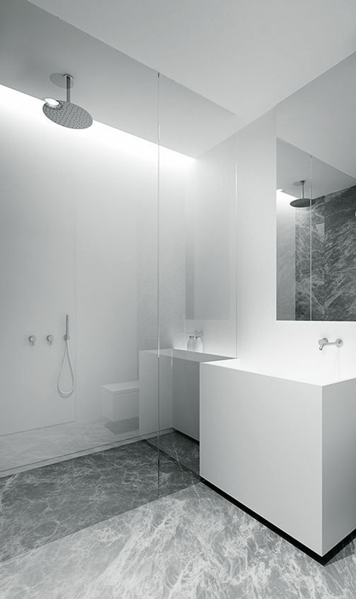 Beaucoup d 39 id es en photos pour la salle de bain en marbre Salle de bain en gris