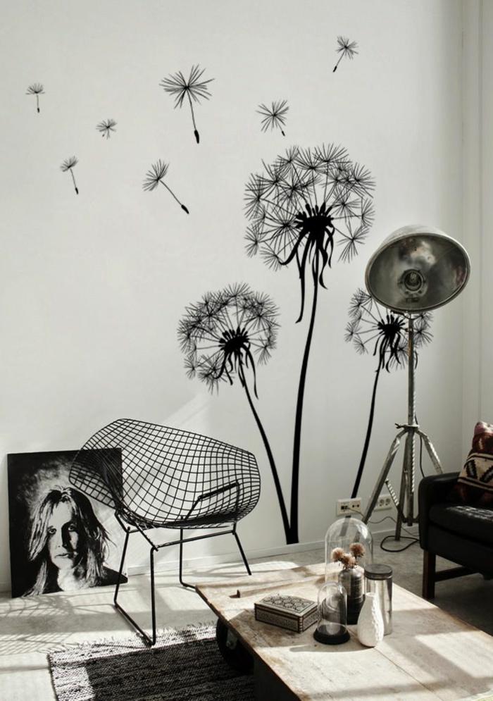 1-papier-peint-leroy-merlin-noir-et-blanc-dans-le-salon-moderne-chaise-en-fer