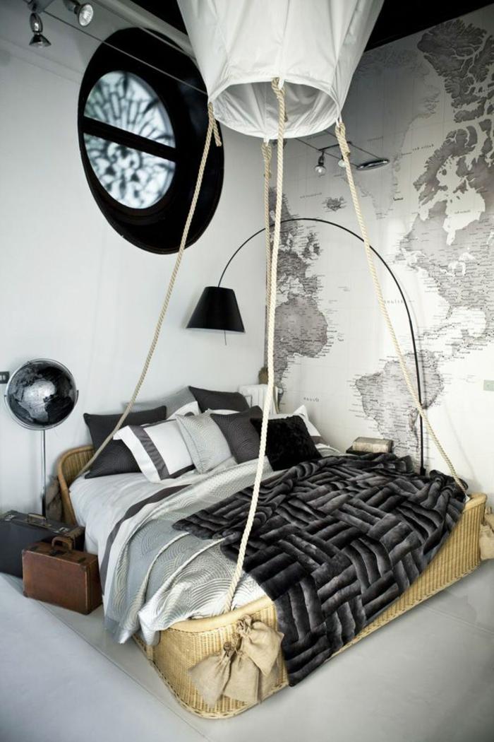 papier peint noir et blanc chambre papier peint noir et. Black Bedroom Furniture Sets. Home Design Ideas