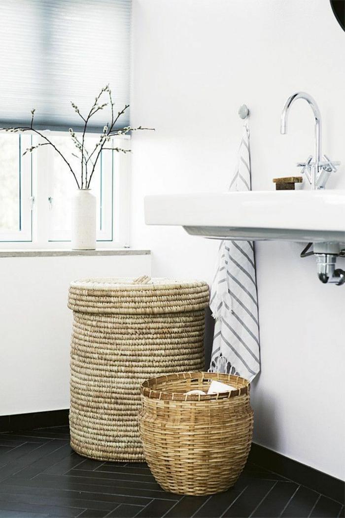 Le parquet noir en 45 super photos for Parquet pour cuisine et salle de bain