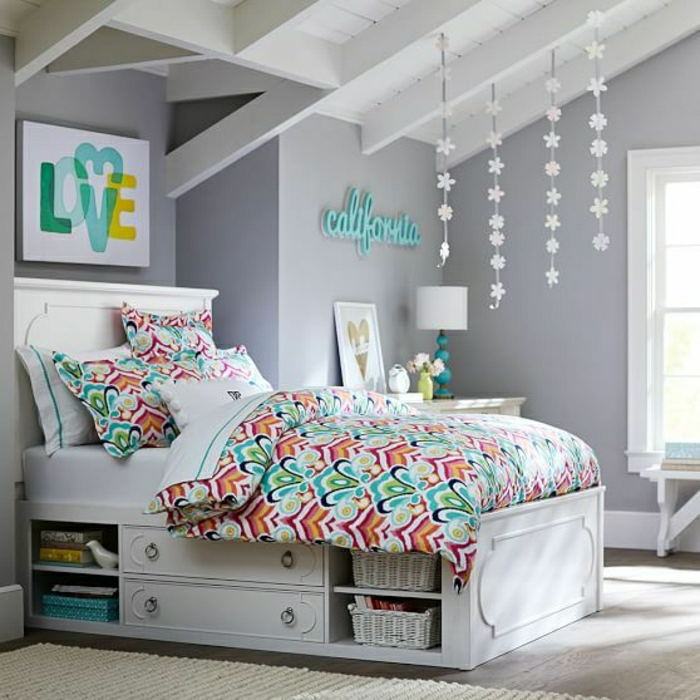 44 super id es pour la chambre de fille ado - Super cute teenage girls room ...