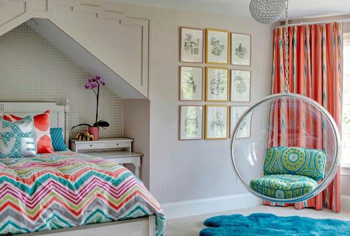 2-chambre-de-fille-ado-idee-deco-chambre-ado-rideuax-longs-dans-la-chambre-a-coucher-murs-gris