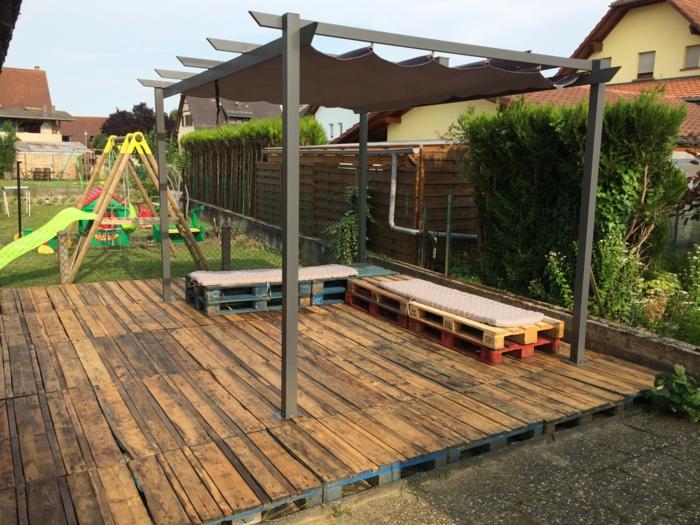 Les meilleures id es pour la terrasse en palette - Idee salon de jardin palette ...