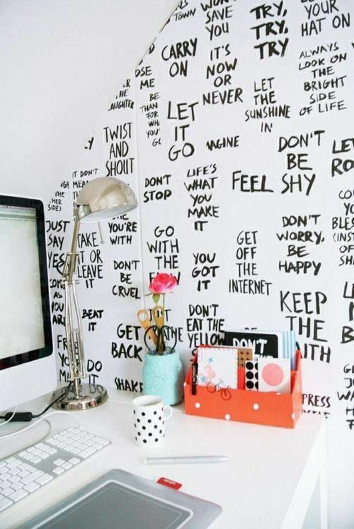 2-papier-peint-leroy-merlin-blanc-noir-avec-citation-plafond-sous-pente-blanc