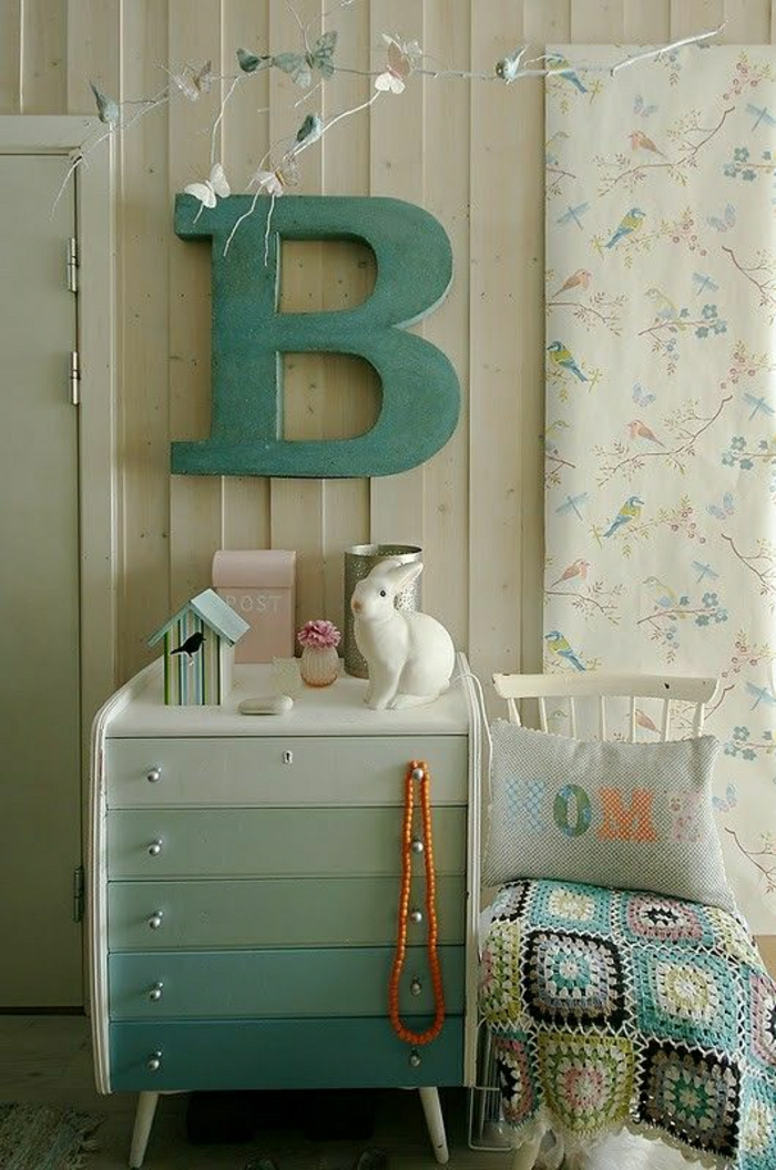 2-relooker-un-meuble-en-bois-commode-en-bois-avec-tiroirs-colorés-bleu-ciel-bleu-clair