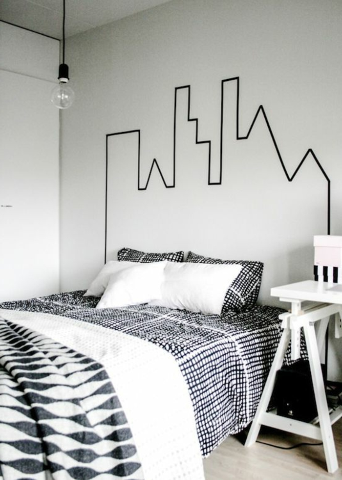 3-jolie-decoration-pour-un-pan-de-mur-blanc-avec-figure-imitant-batimant