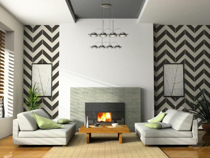 3-papier-peint-noir-et-blanc-dans-le-salon-moderne-avec-cheminé-d-intérieur-moderne