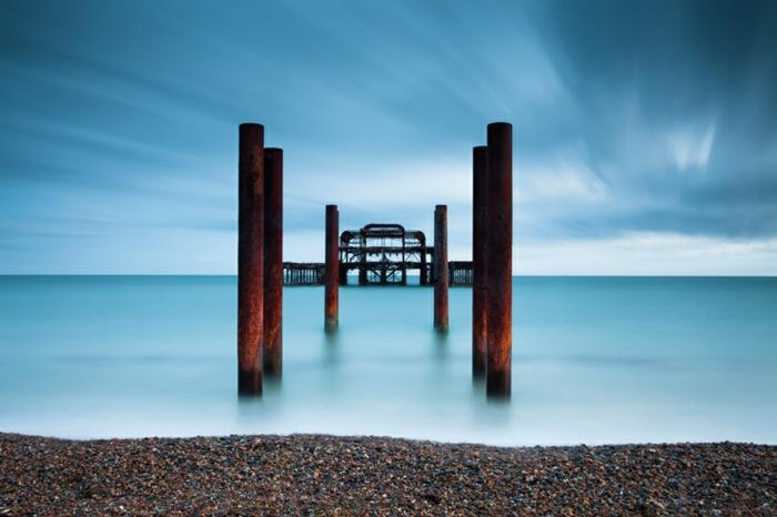 Angleterre-UK-Brighton-cité-touristique-et-historique-intéressante-vue-artistique